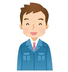 作業着を着た男性 作業員