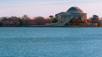 Time lapse of the Thomas Jefferson Memorial in Washington DC