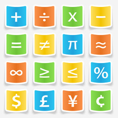 Math Symbol Stickers