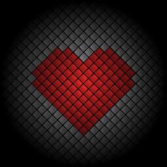 Tile Heart Background
