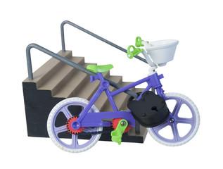 Bike Padlocked to Stair Handrail
