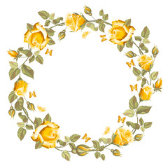 Wreath from rose