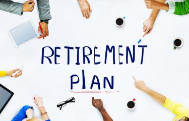 Ethnicity People Retirement Plan Brainstorming Concept
