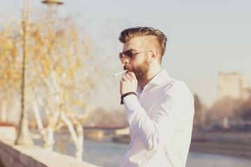 Urban guy with a beard
