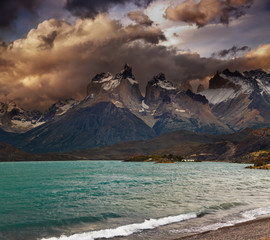 Sunset in Torres del Paine National Park