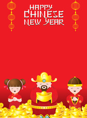 Chinese New Year Kids and God