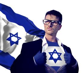 Superhero Businessman Israeli Isolated Concept