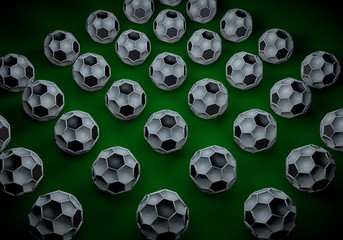 abstract footballl soccer 3d