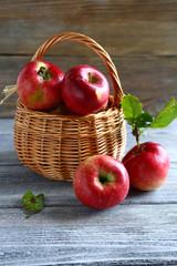 Sweet apples in a basket