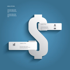 Dollar sign vector illustration for business or financial