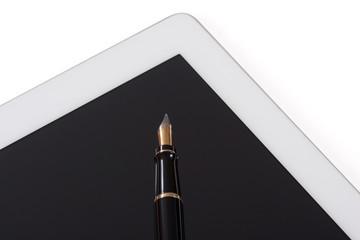 Tablet-Computer mit Füllfederhalter