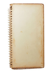 Old photo album  isolated on white