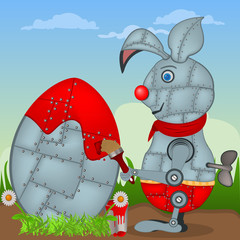 Easter robo-rabbit