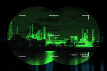 Chemical industry the threat of terrorism - Concept Photo.