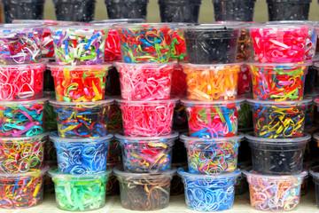 Colorfull elastic hair band in box