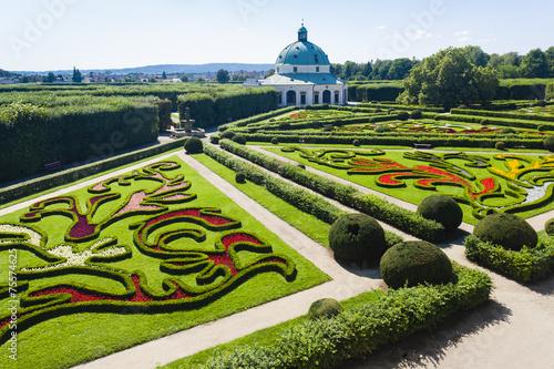 Flower garden of Kromeriz Palace, Czech Republic - 75574625