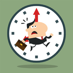 Panic Manager Running In A Clock Modern Flat Design