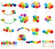 Color Glossy Balloons Mega Set Vector Illustration - 75575491