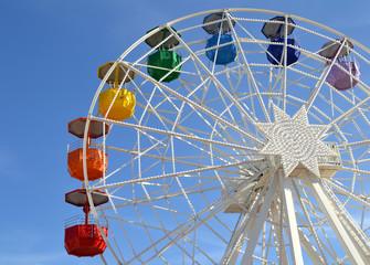 Big wheel at the amusement park Tibidabo in Barcelona, Spain