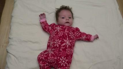 Cute Baby In Christmas Fleece