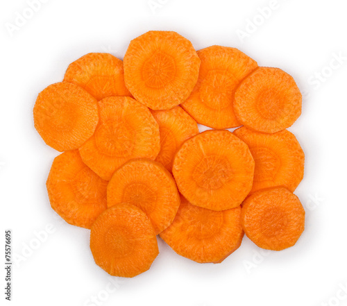 carrot slices. With clipping path - 75576695