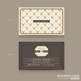 Fototapety Classic Business card Design Template