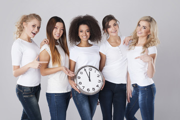 Elapsed time for each of us