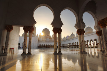 Sheikh Zayed mosque in Abu Dhabi,UAE, Middle East