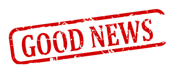 """Oval red stamp with the words """"good news"""" - vector svg"""