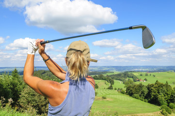 Golfsport im Grünen