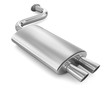 canvas print picture - Car Exhaust Pipe.