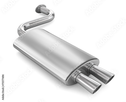 canvas print picture Car Exhaust Pipe.
