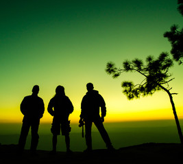 silhouette of man group