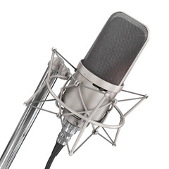 Microphone isolated on the white background. Speaker concept.
