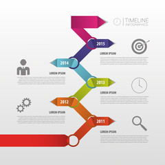 Colorful Timeline. Infographic template. Vector