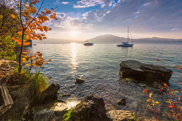 Herbst am Attersee