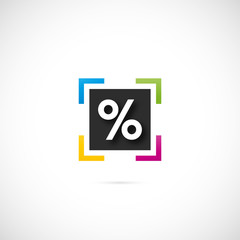 icône pourcentage
