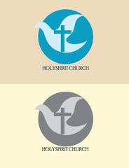 Christian icon, Holyspirit church logo, art vector design