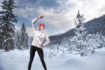 Jogging at winter