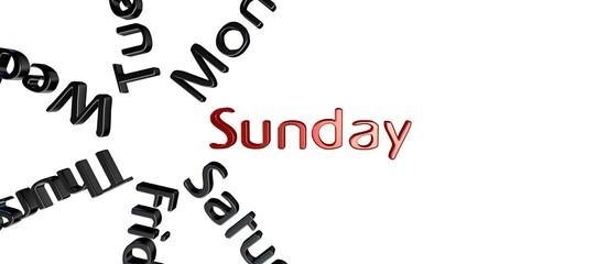 Dia de la semana Sunday