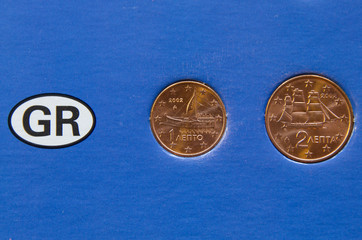 Ein und zwei Cent Griechenland