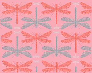 Dragonflies pattern b