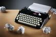 Typewriter and writers block
