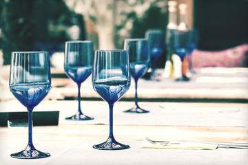 Retro Photo Of Elegant And Classic Restaurant Table Setting