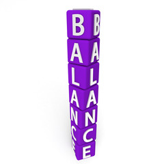 Balance Text on Cubes