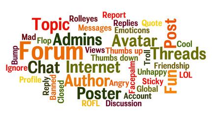 Forum word cloud