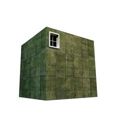 concrete cubic house