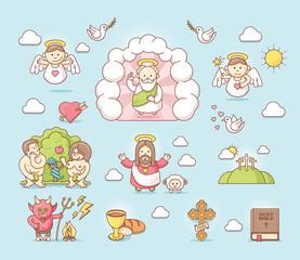 Religious icon set