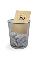 Papierkorb mit Akte - EU