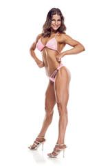 posing woman bikini fitness competitor